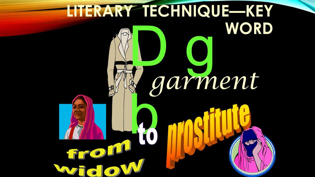 LITERARY TECHNIQUE—KEY WORD D g b garment
