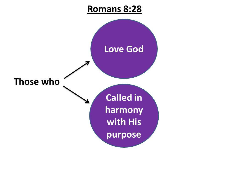 Romans 8:28 Those who Love God Called in harmony with His purpose