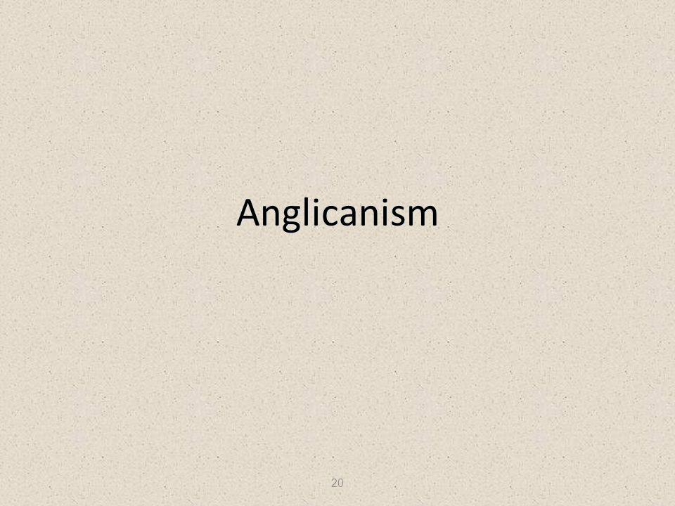 20 Anglicanism