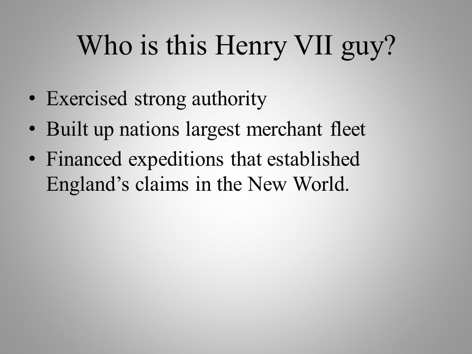 What About Henry VIII.
