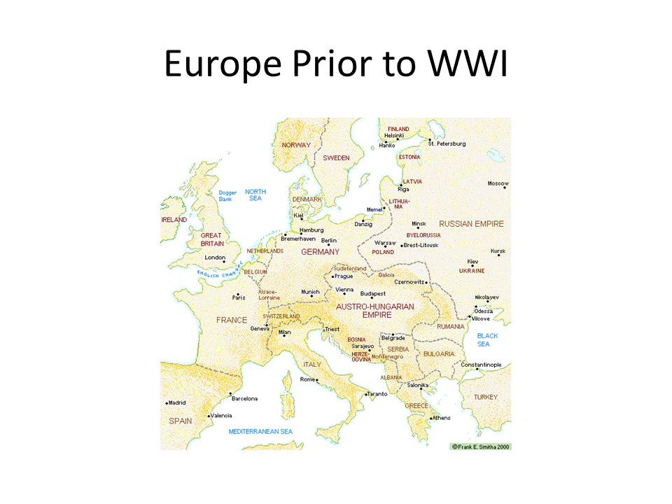 Europe Prior to WWI