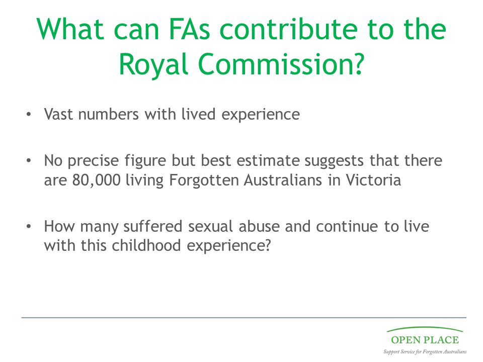 What can FAs contribute to the Royal Commission.
