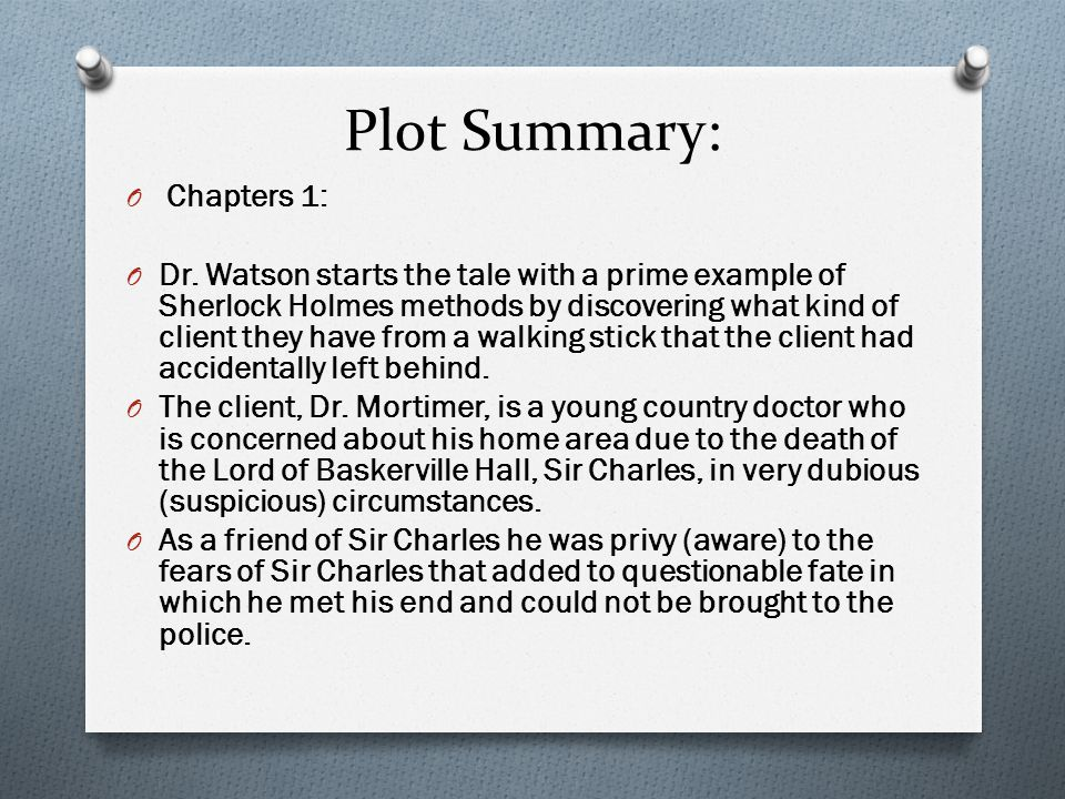 Plot Summary: O Chapters 1: O Dr.