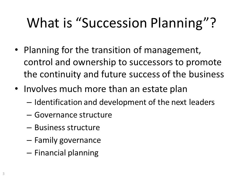 What is Succession Planning .