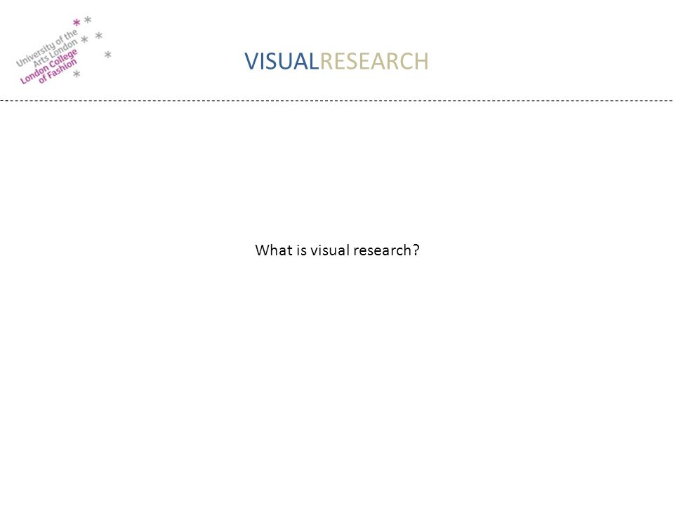 VISUALRESEARCH What is visual research?