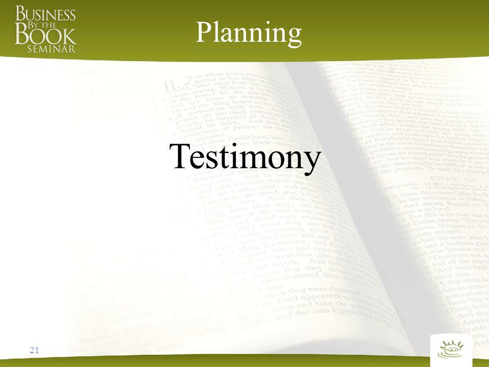 21 Planning Testimony