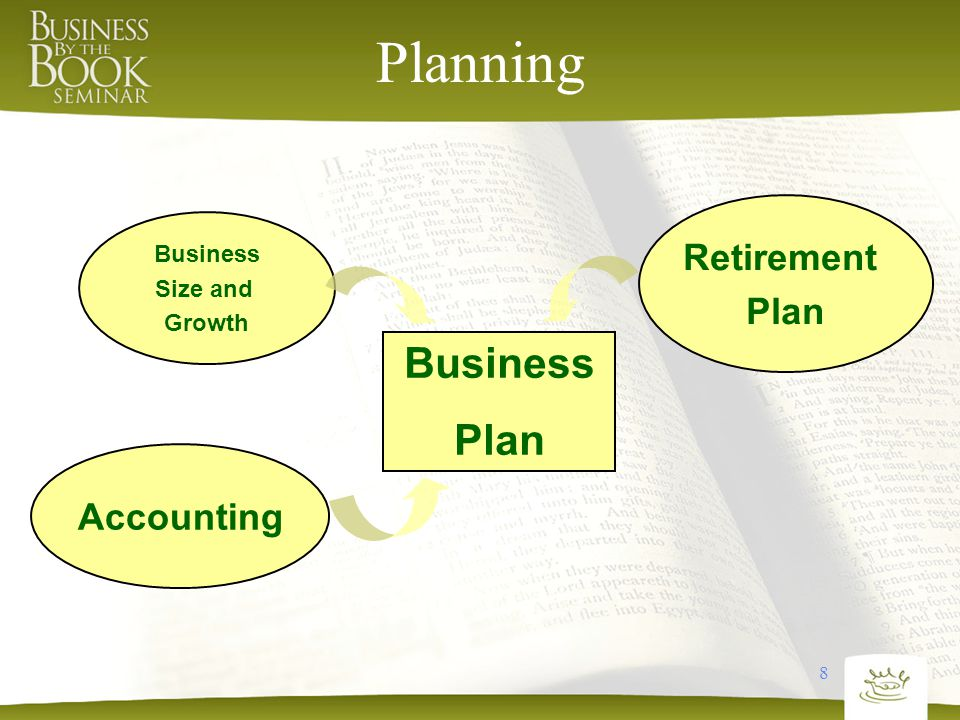 8 Planning Business Plan Retirement Plan Accounting Business Size and Growth
