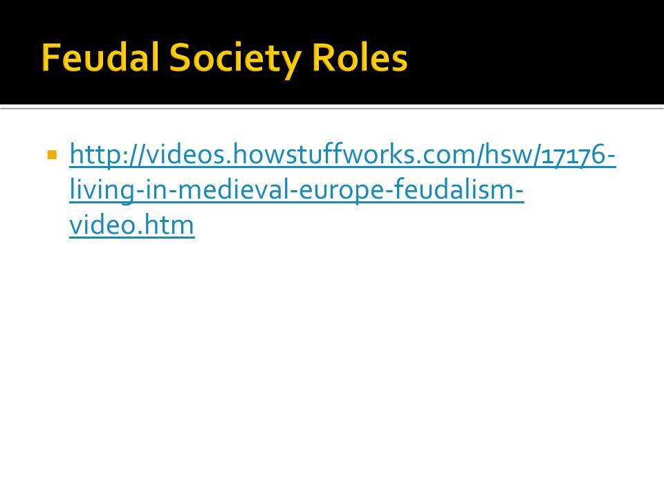  http://videos.howstuffworks.com/hsw/17176- living-in-medieval-europe-feudalism- video.htm http://videos.howstuffworks.com/hsw/17176- living-in-medieval-europe-feudalism- video.htm