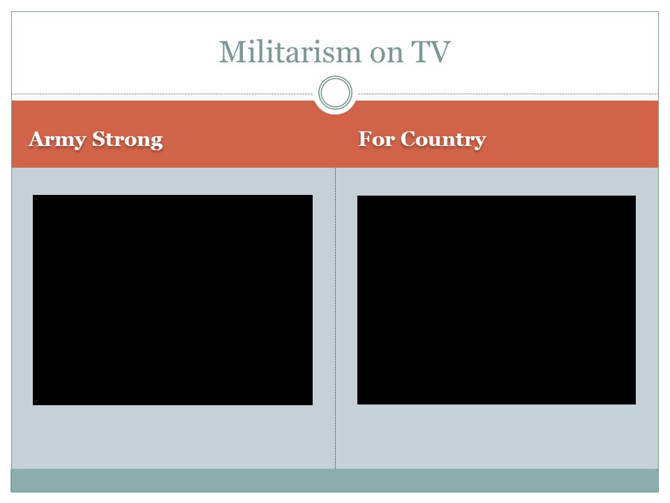 Army Strong For Country Militarism on TV