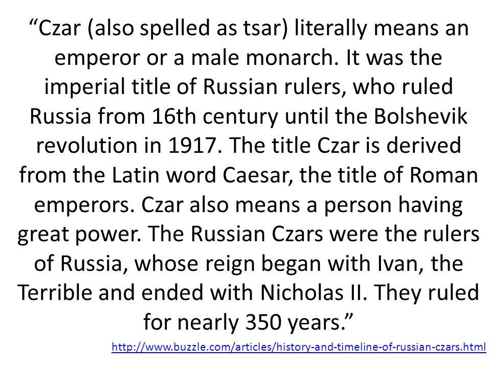 RUSSIA Ivan IV – Catherine II