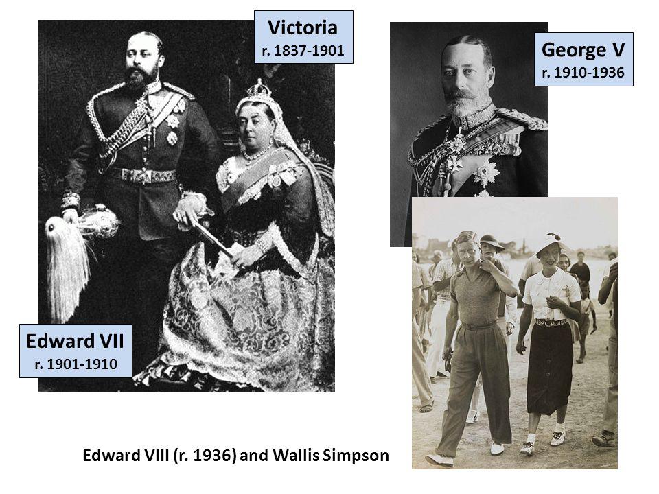 Victoria Edward VII Victoria r.1837-1901 Edward VII r.