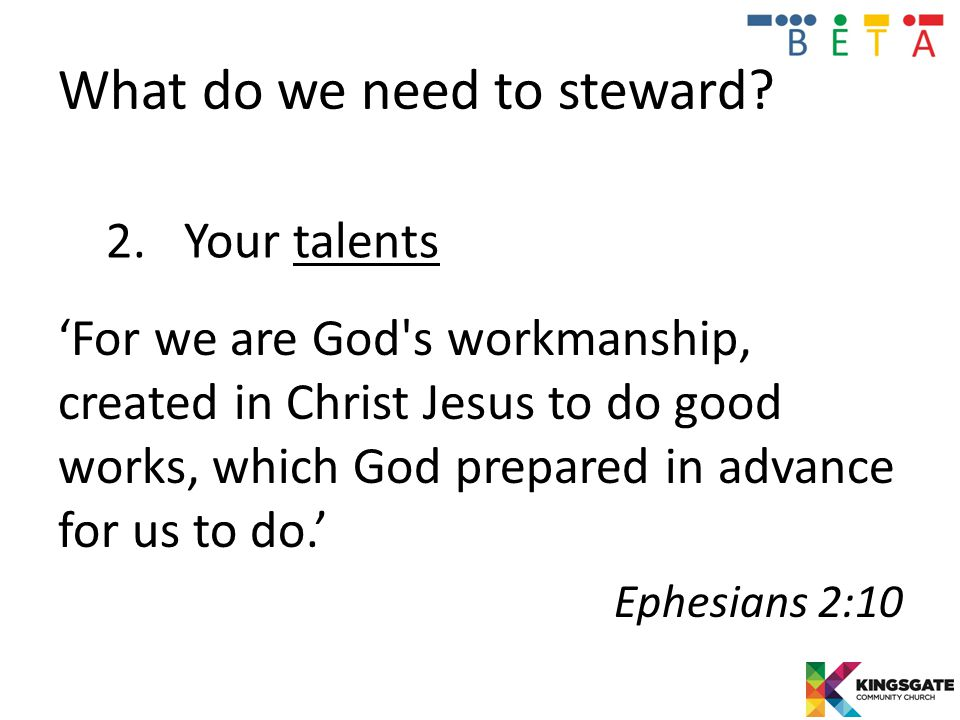 What do we need to steward.