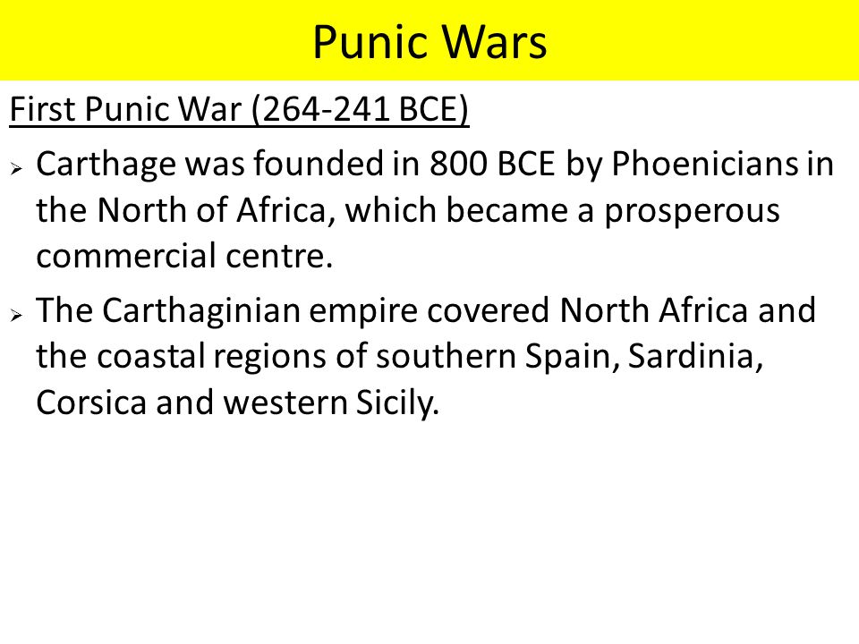 Warning Signs of Future Roman Values  The total destruction of the North African city of Carthage and sale, into slavery of all survivors, was a sign of the deterioration / loss of Senatorial / Political leadership and control that was to become more obvious in the future.