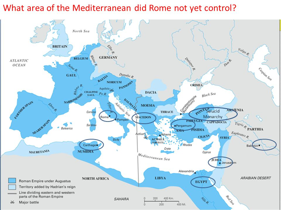 The Macedonian Wars  Rome feared that Macedon, having allied with Hannibal, may attack Rome.