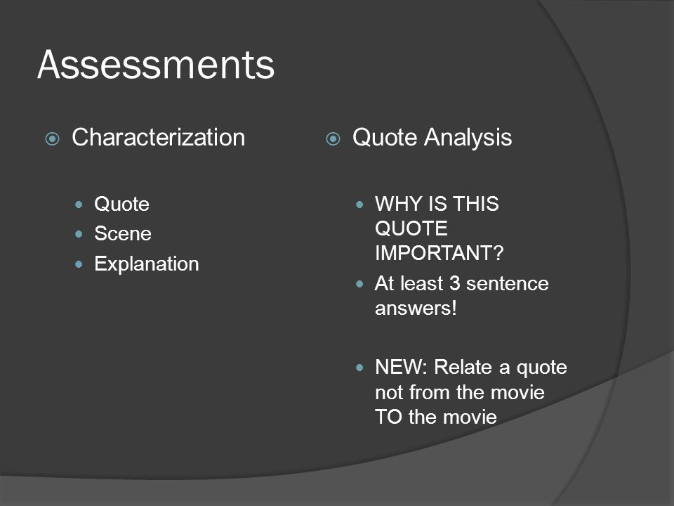 Assessments  Themes and genres are TWO different things!!!.