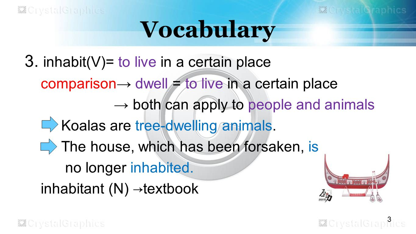 Vocabulary 3.