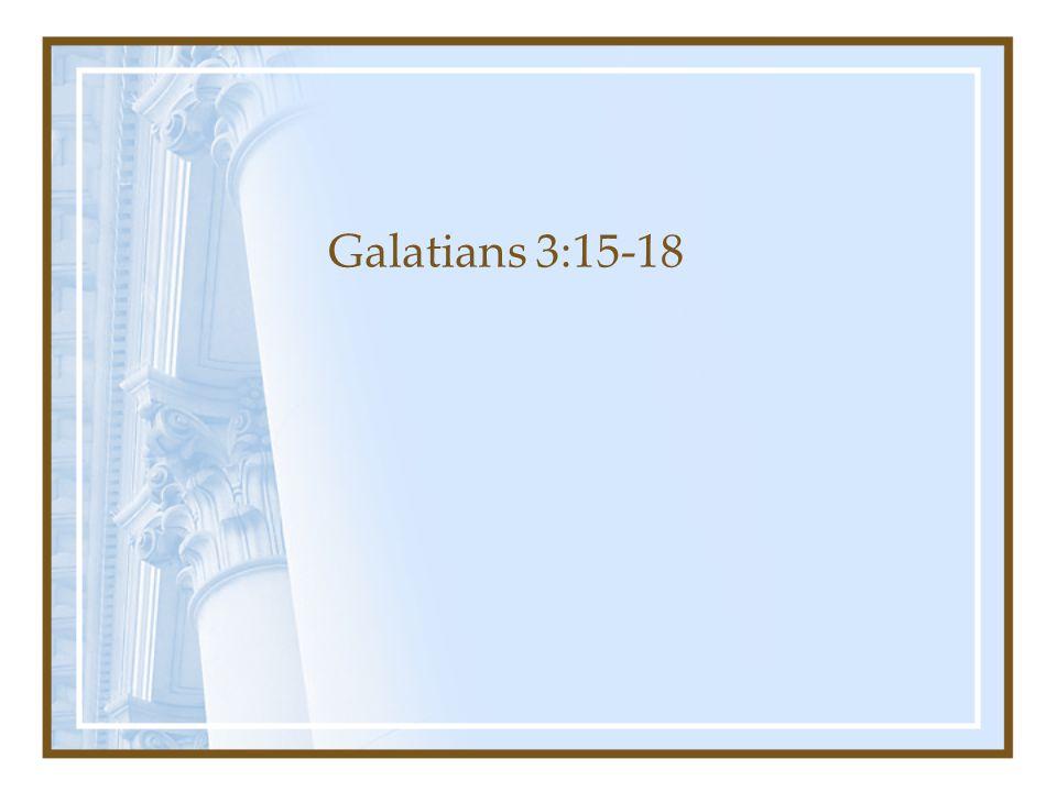 Galatians 3:15-18