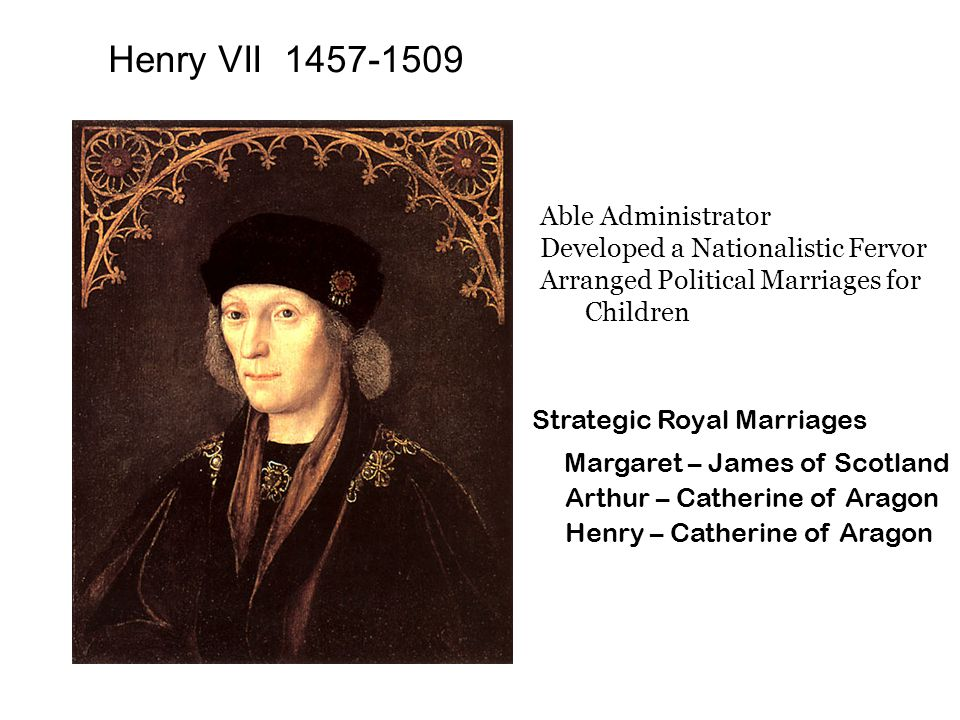 VV Henry VIII 1491-1547 Reign (1509-1547) Handsome Strong Cultured Good Musician Could speak-Latin, French, Spanish, & English Enjoyed chase, archery, tennis Strong theological knowledge Wrote The Seven Sacraments Defender of the Faith Egotistical Obstinate Given to fitful acts of terror