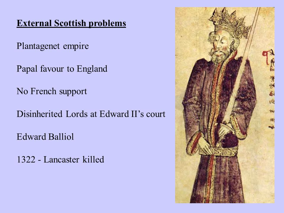 Scottish peace concluded Jan 1323 with Andrew Harcla, earl of Carlisle.