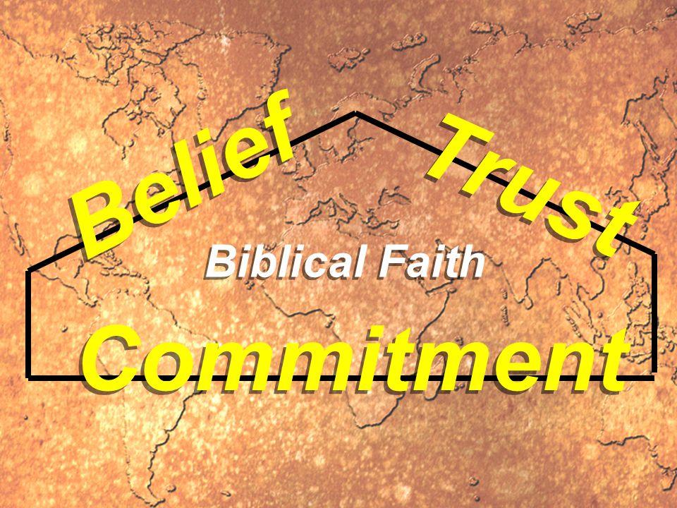 Trust Belief Commitment Biblical Faith