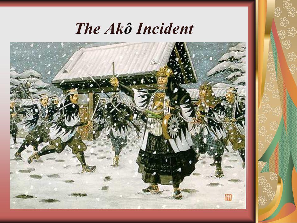 The shogun, Tokugawa Tsunayoshi, wished to reward Ō ishi and his men...