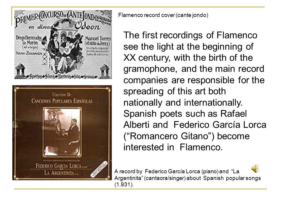 As well as the poets, the Spanish composers (Manuel de Falla, Enrique Granados, Isaac Albéniz…) reflect the Flamenco art in their music.