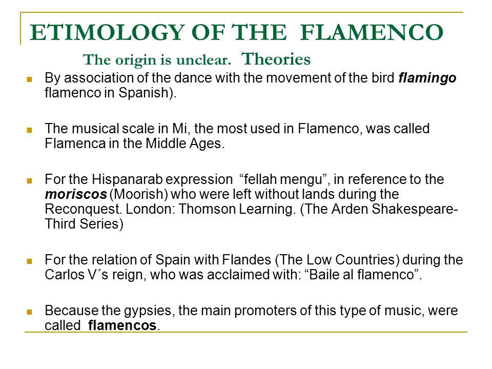 PALOS (Types) OF FLAMENCO (*) THESE ARE THE MOST IMPORTANT: FANDANGO SOLEÁ ALEGRÍAS BULERÍAS SEGUIRIYA TANGOS SAETA (*) Flamenco is also called CANTE JONDO (deep song), for its deepness and tragical character.