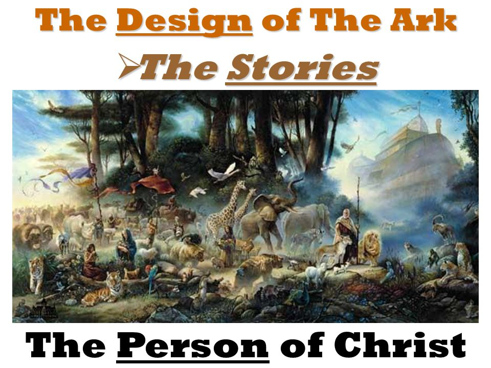 The Design of The Ark  The Stories The Person of Christ