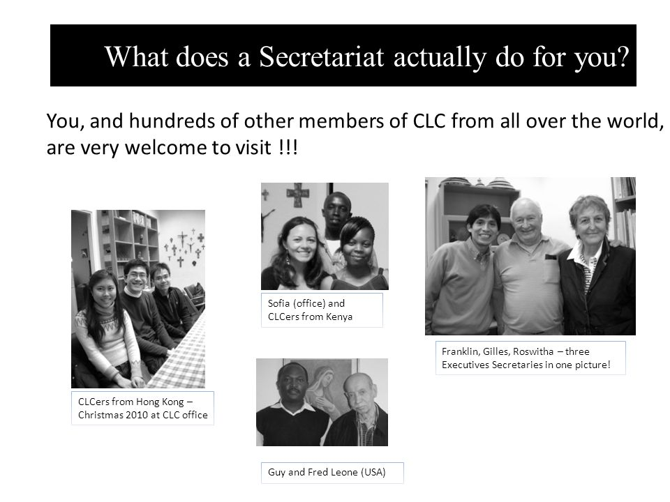 What does a Secretariat actually do for you.