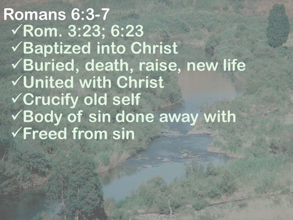 Romans 6:3-7 Rom.