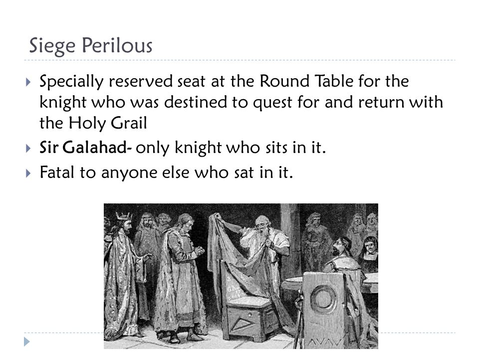 Holy Grail  In Christian mythology the cup used by Jesus during the last supper.
