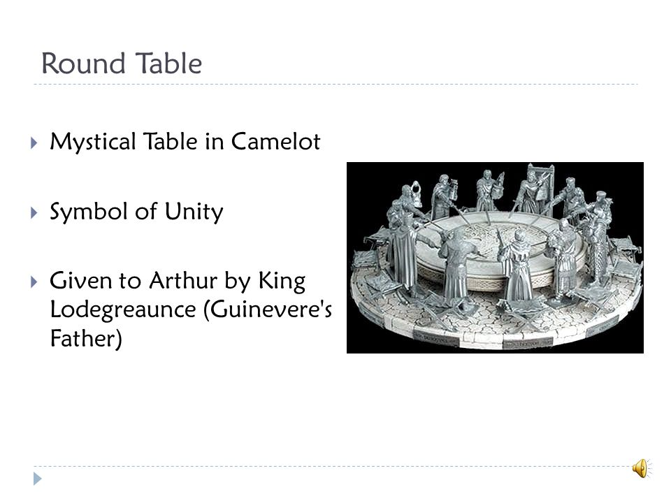 Siege Perilous  Specially reserved seat at the Round Table for the knight who was destined to quest for and return with the Holy Grail  Sir Galahad- only knight who sits in it.