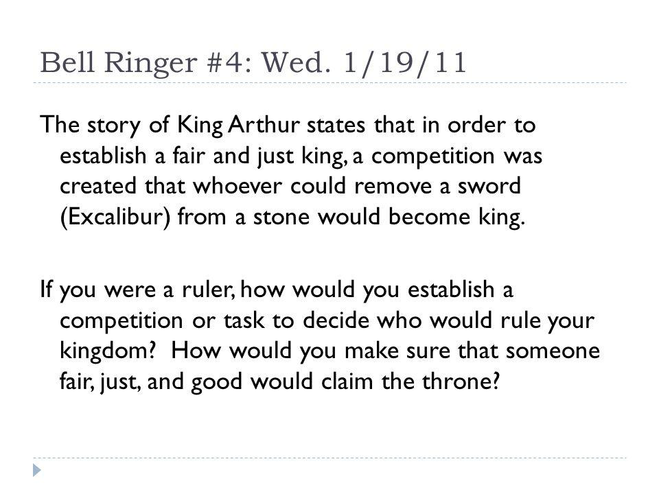 Bell Ringer #4: Wed.