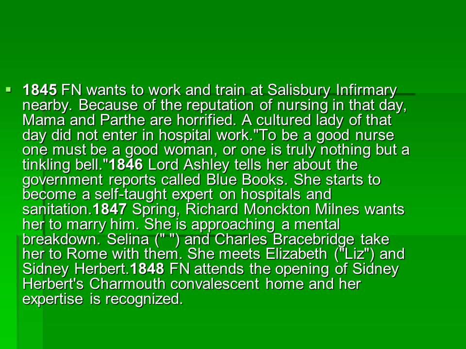  1845 FN wants to work and train at Salisbury Infirmary nearby.