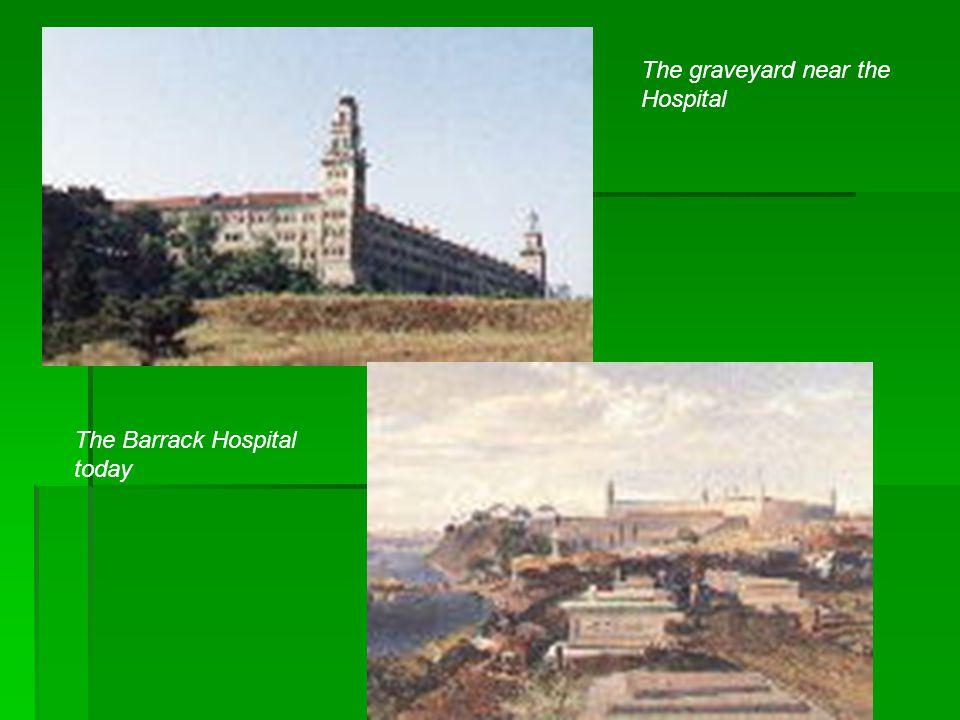 The Barrack Hospital today The graveyard near the Hospital
