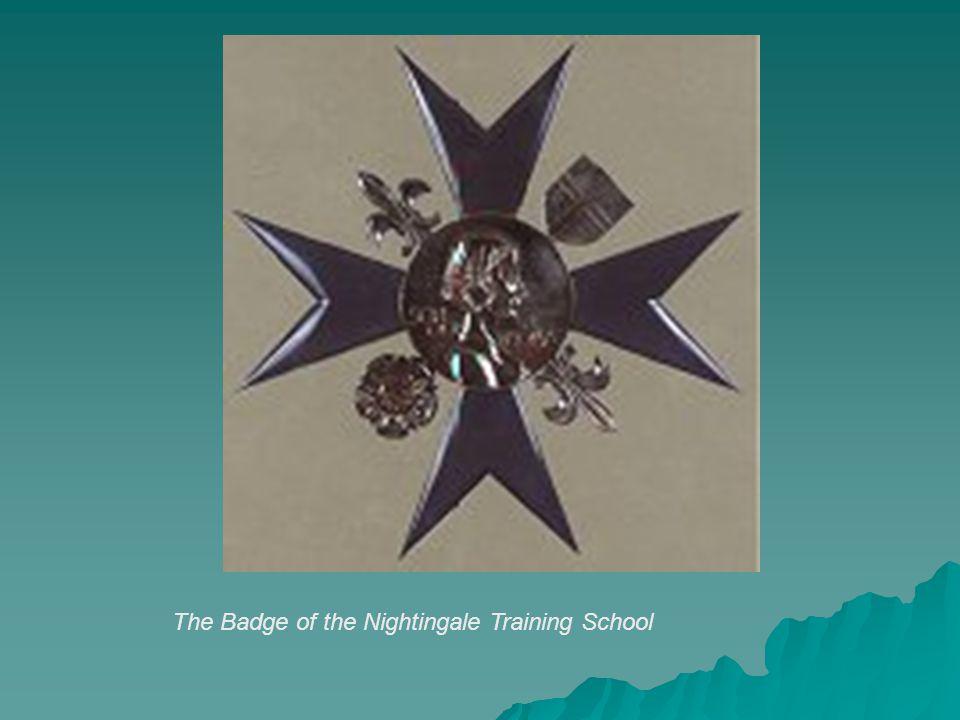 The Badge of the Nightingale Training School