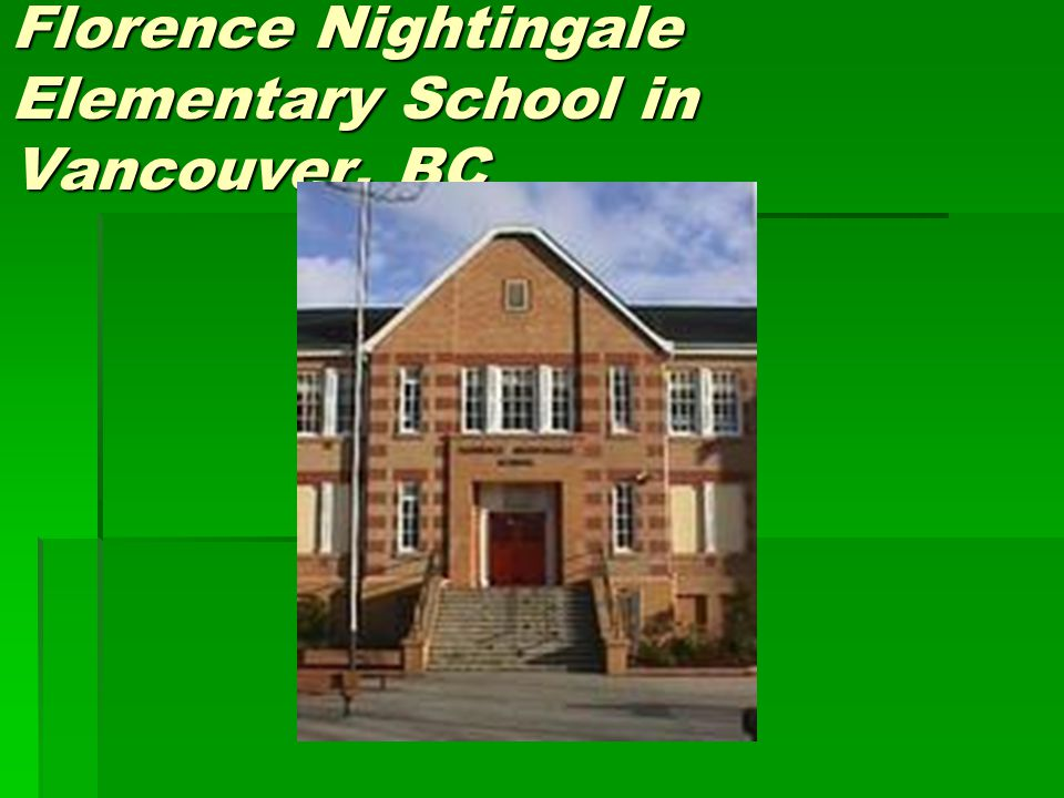 Florence Nightingale Elementary School in Vancouver, BC