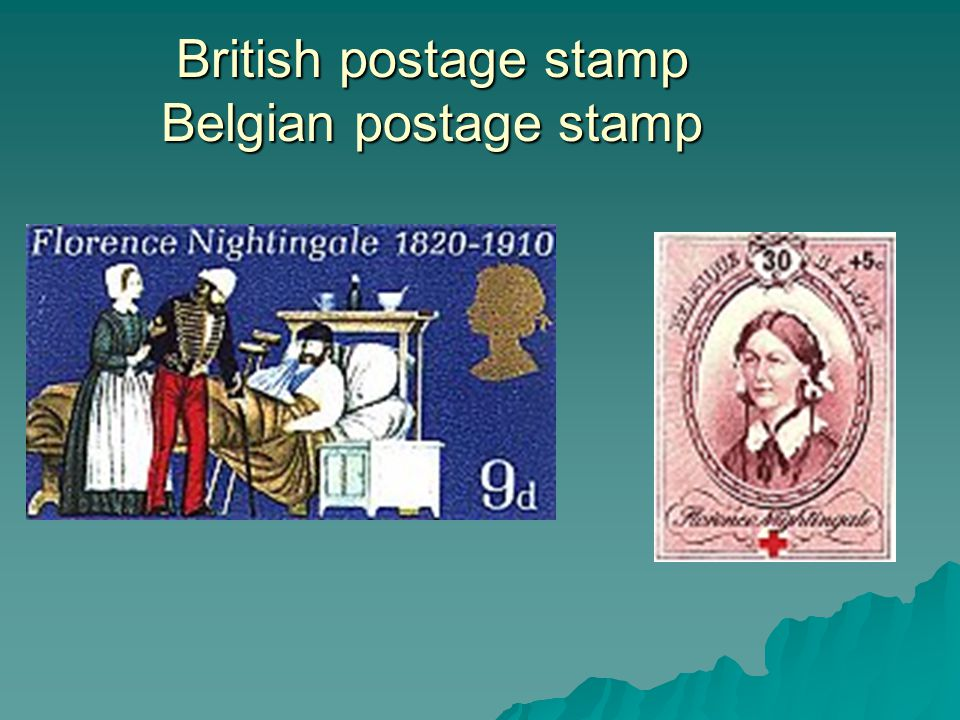 British postage stamp Belgian postage stamp