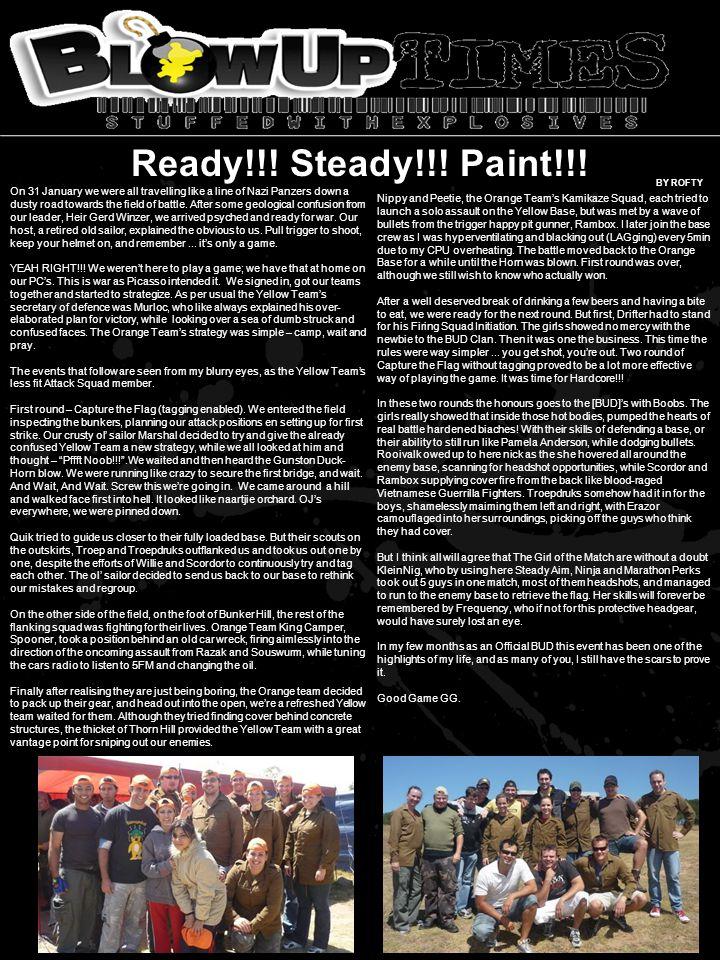 Ready!!. Steady!!. Paint!!.