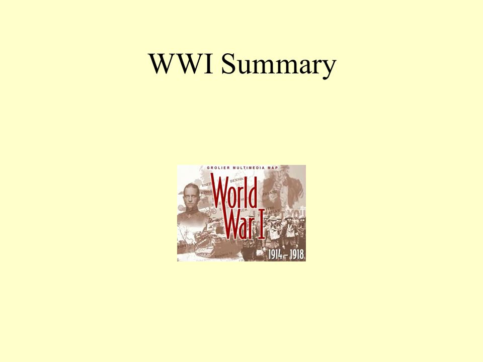 WWI Summary