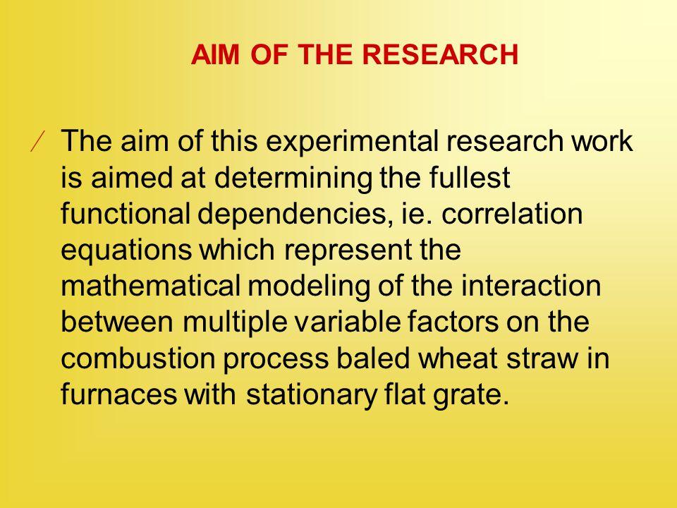 ELEMENTARY CHEMICAL ANALYSIS OF WHEAT STRAW The elemental composition of wheat straw: C + H + O + N + S + A + W = 1