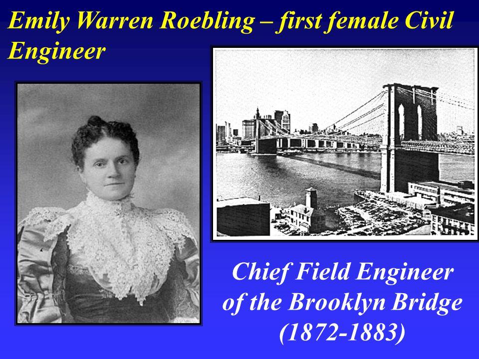 Emily Warren Roebling – first female Civil Engineer Chief Field Engineer of the Brooklyn Bridge (1872-1883)