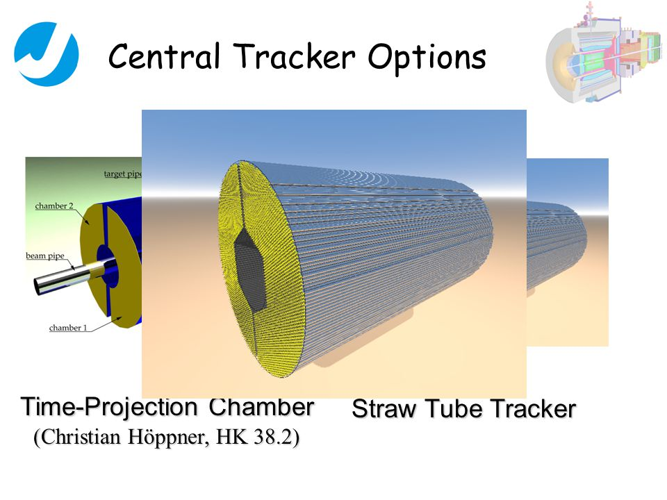 Central Tracker Options Time-Projection Chamber (Christian Höppner, HK 38.2) Straw Tube Tracker
