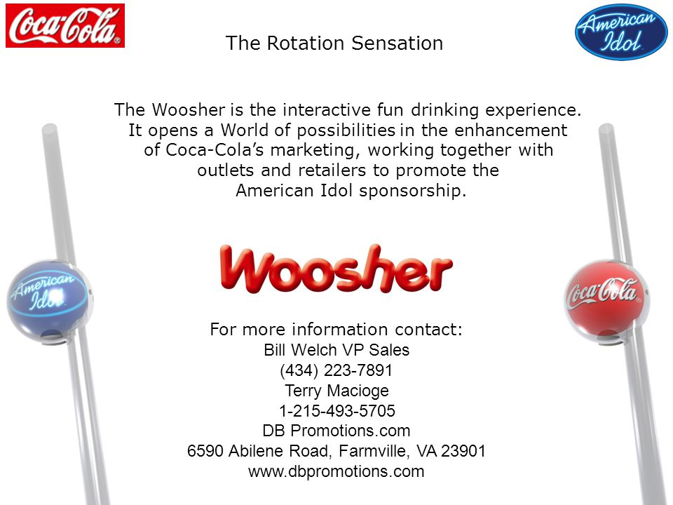 The Woosher is the interactive fun drinking experience.