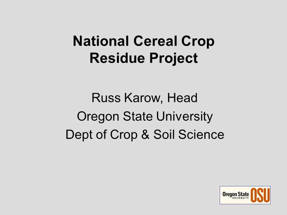 Project Goal to explore possibilities for use of small grain straws as a biomass source for biofuels production to consider such use in a sustainable cropping system context Group was given planning grants