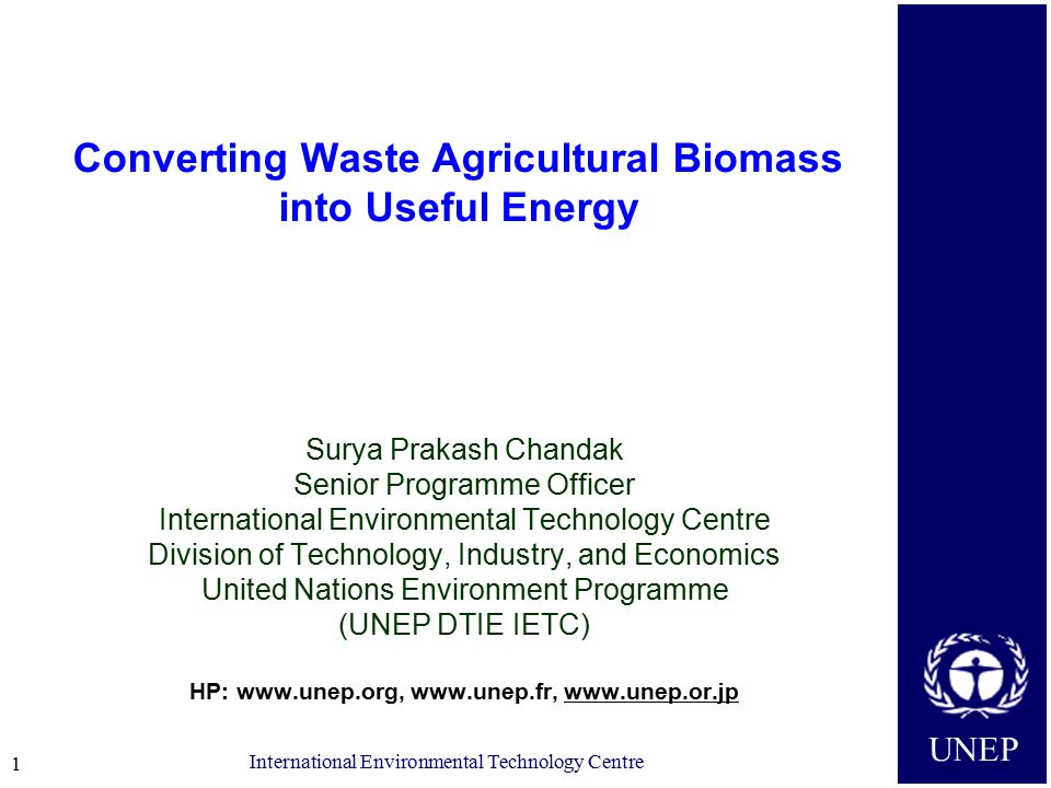 UNEP International Environmental Technology Centre 12 THANK YOU For further information: http://www.unep.org