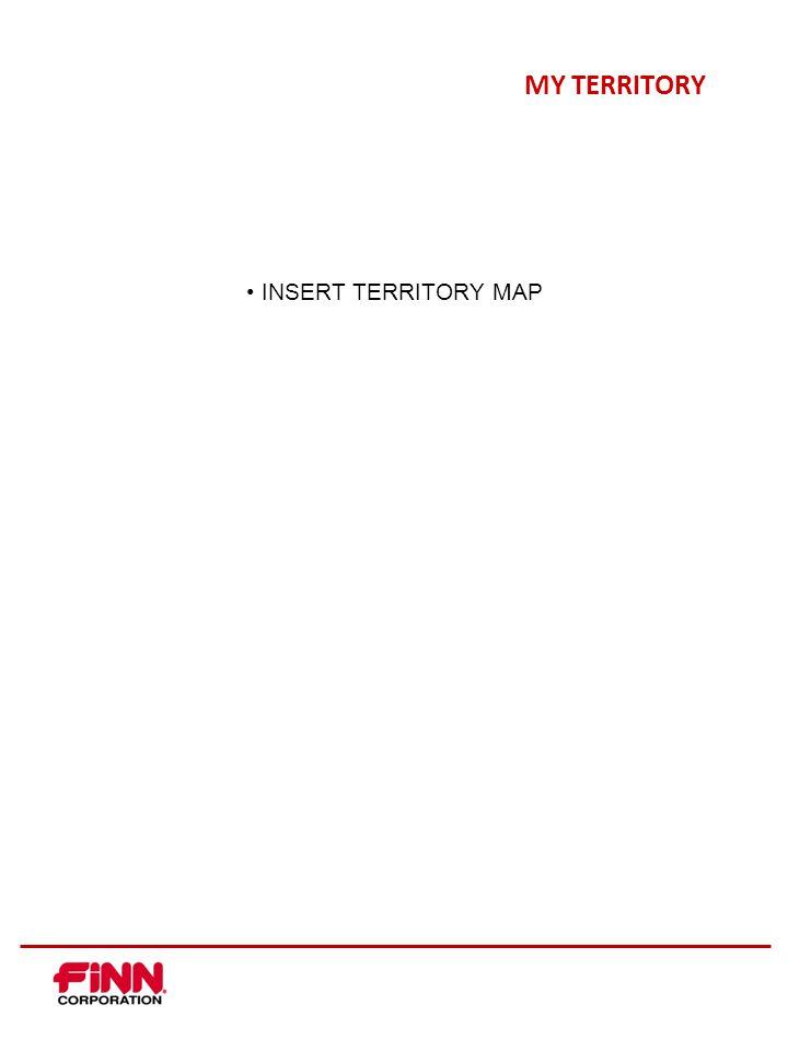 MY TERRITORY INSERT TERRITORY MAP