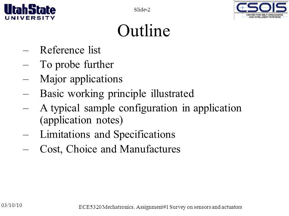 03/10/10 ECE5320 Mechatronics.