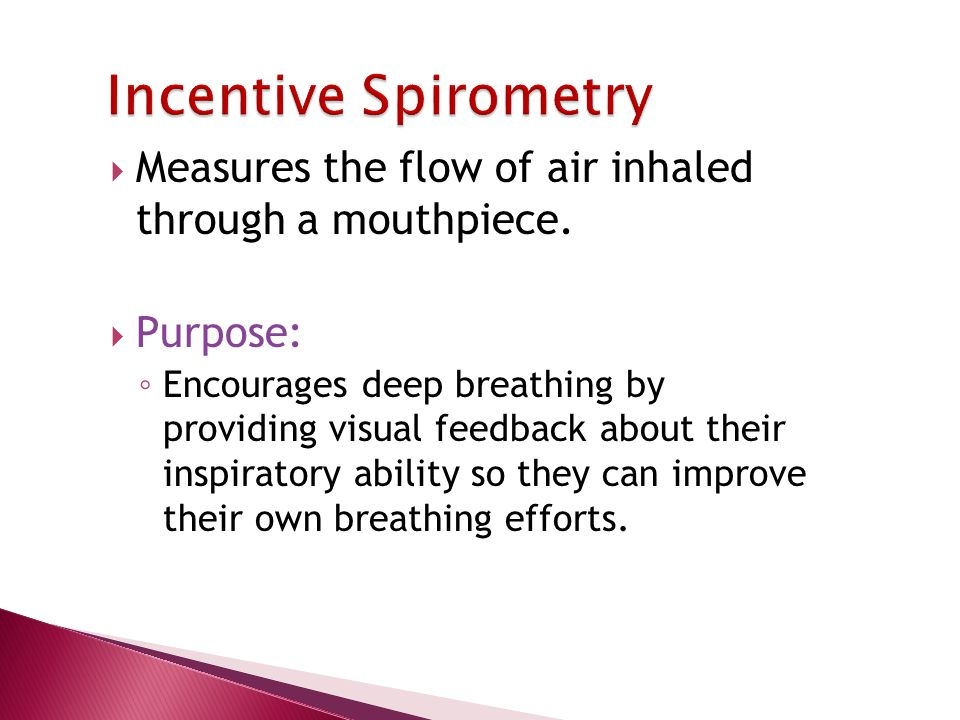  Measures the flow of air inhaled through a mouthpiece.