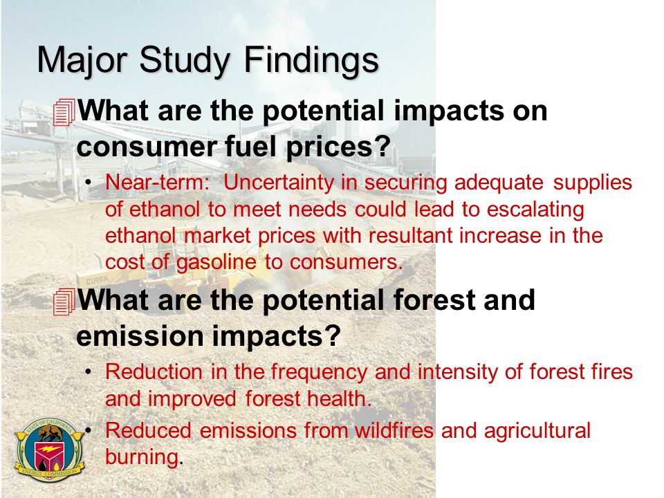 Major Study Findings 4What are the potential impacts on consumer fuel prices.